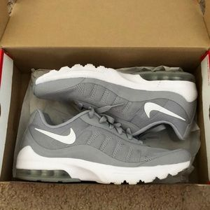 White and grey nikes